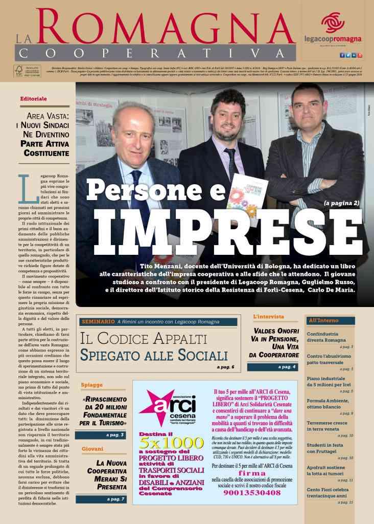 Persone e imprese: il nuovo numero (6/2016) della Romagna Cooperativa [pdf] [app]