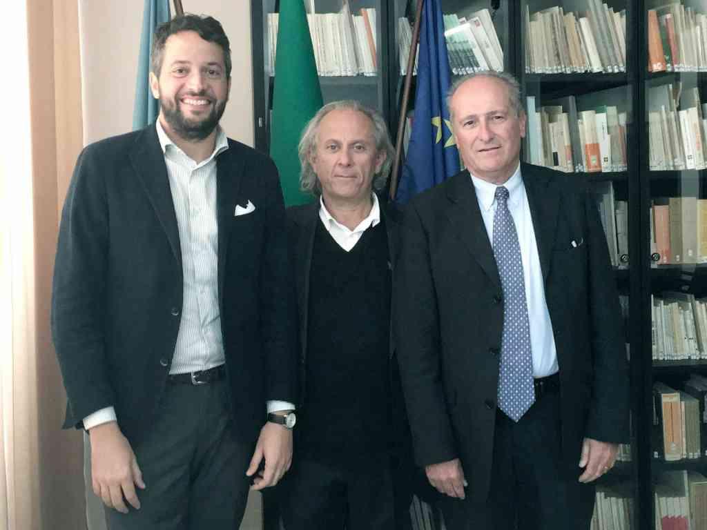Da sinistra: Rudy Gatta (Vicepresidente e consigliere delegato allo sviluppo), Valeriano Solaroli (presidente uscente), Guglielmo Russo (presidente).