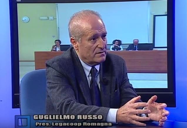 Il presidente di Legacoop Romagna Guglielmo Russo ospite di Salotto Blu
