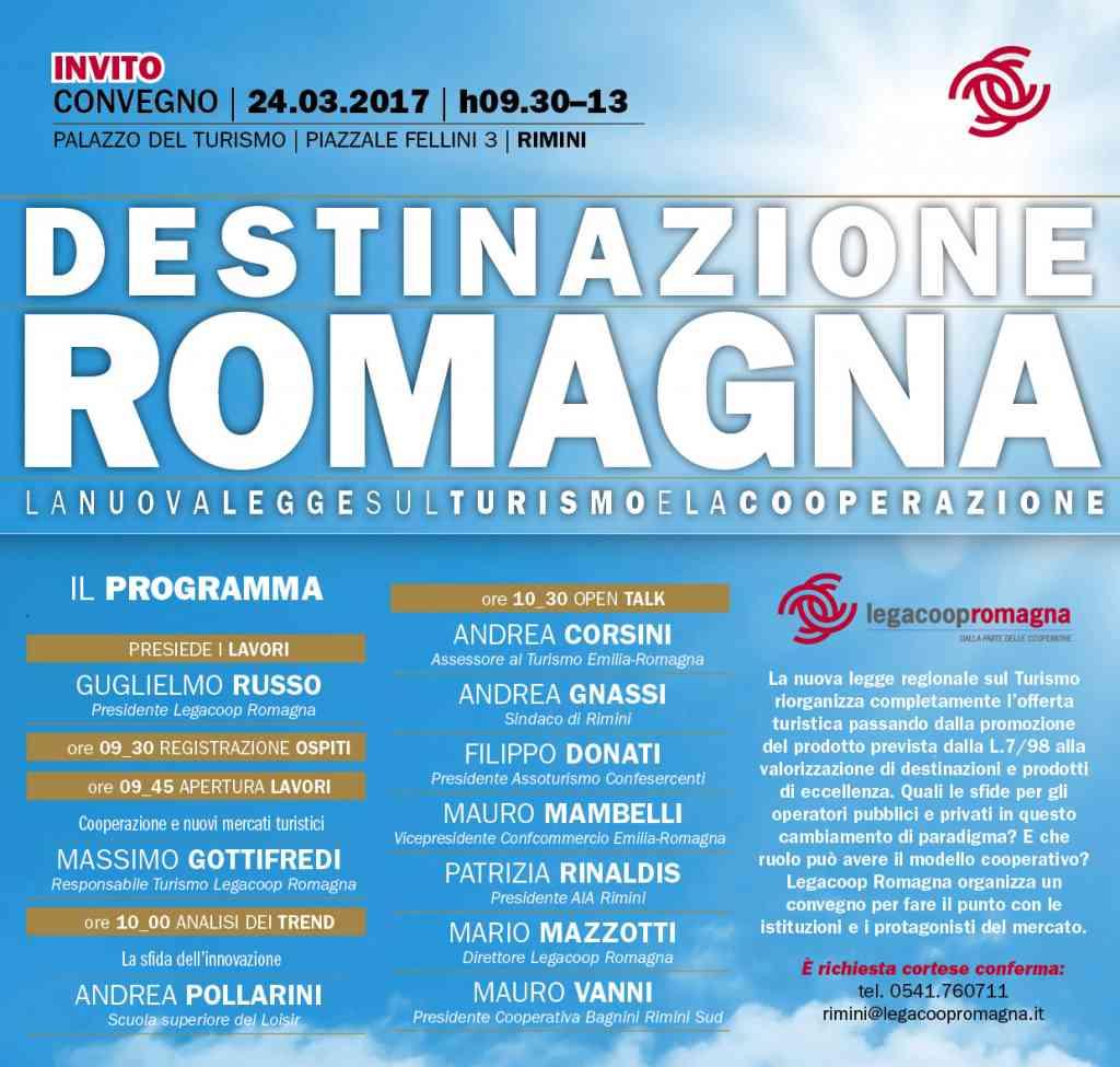 Destinazione Romagna, il 24/3 a Rimini confronto con l'assessore regionale al Turismo