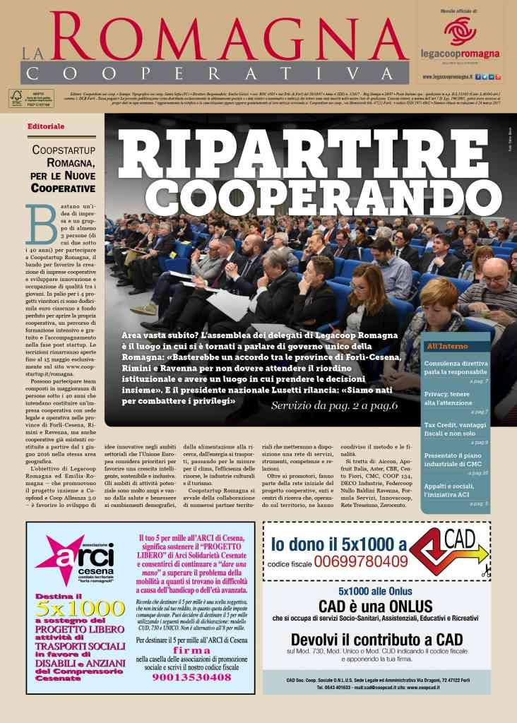 Ripartire Cooperando – il nuovo numero della Romagna Cooperativa [pdf] [app]]