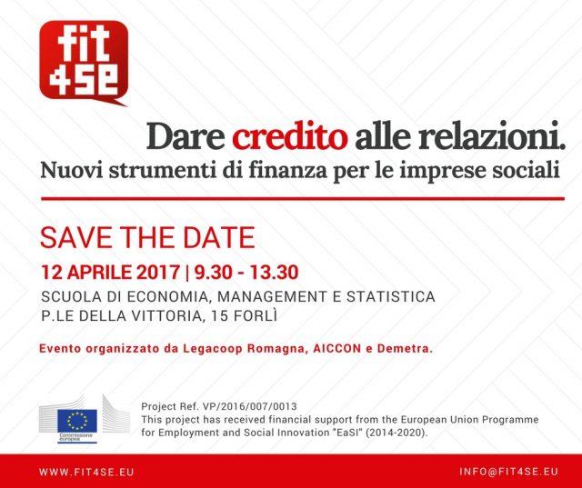 Finanza per le imprese sociali, il 12/4 incontro a Forlì