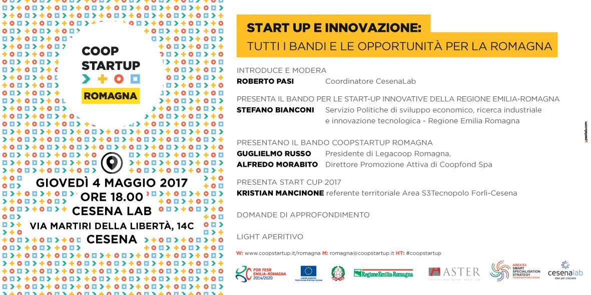 Il 4/5 Coopstartup Romagna si presenta a Cesena Lab