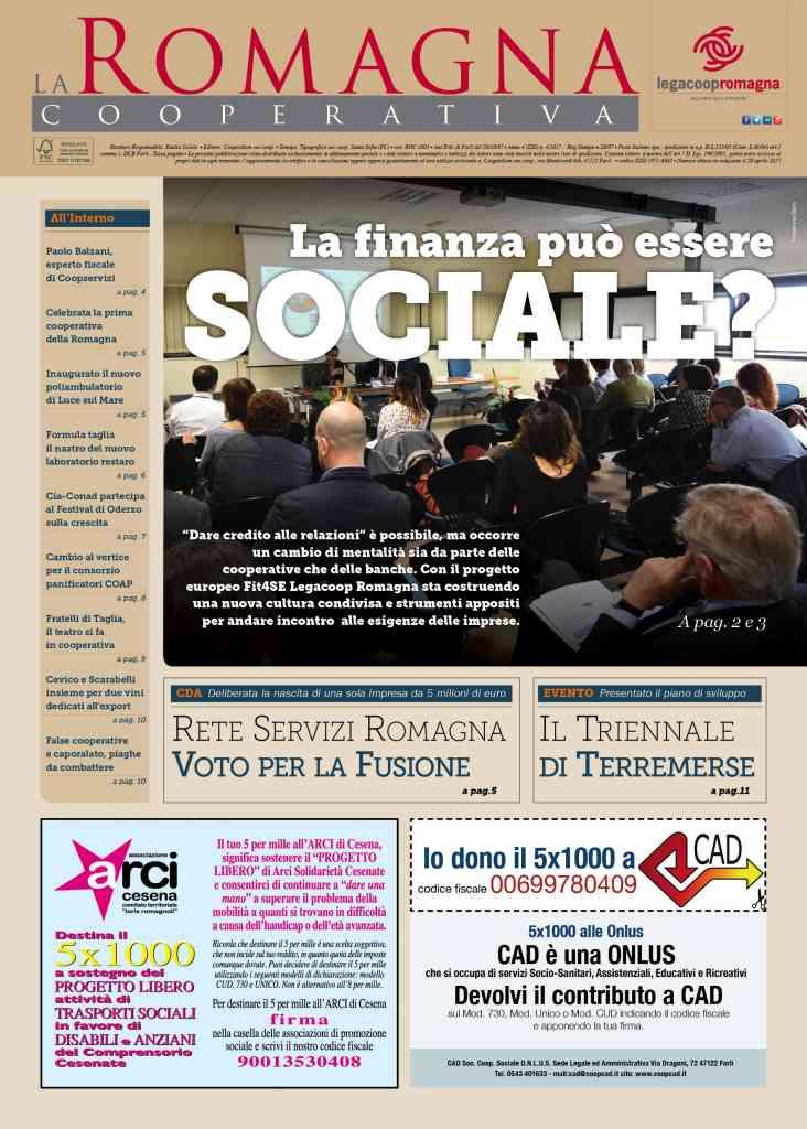 La finanza può essere sociale? Il nuovo numero della Romagna Cooperativa