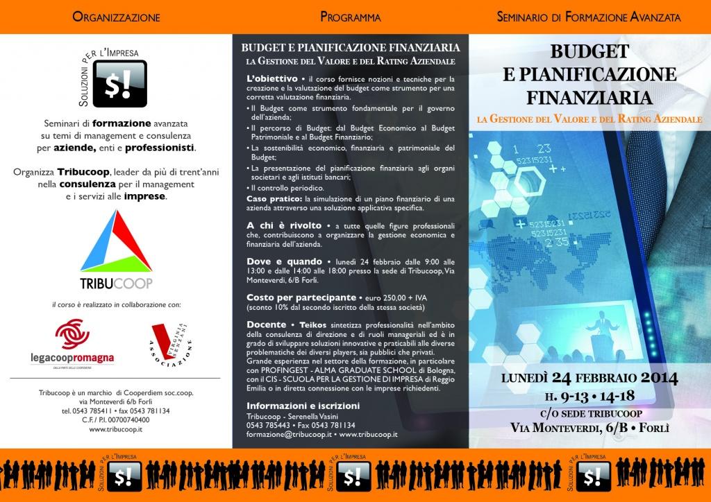 Corso su Budget e Pianificazione Finanziaria – la gestione del valore e del rating aziendale
