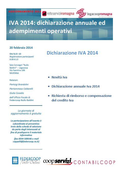 Giovedì 20 febbraio incontro gratuito di aggiornamento sull'IVA