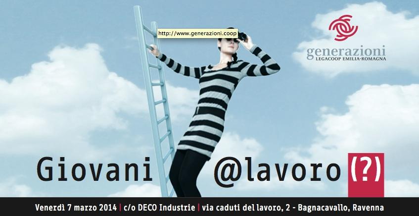 Generazioni Romagna il 7 marzo a Bagnacavallo discute sul tema Giovani e Lavoro