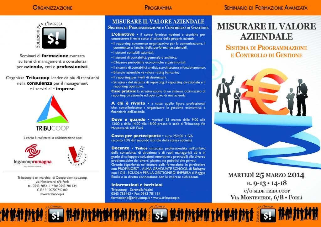 Corso: Misurare il valore aziendale, sistema di programmazione e controllo di gestione