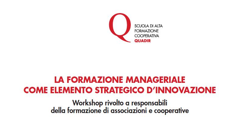 Quadir forma i formatori: tre appuntamenti per i responsabili di associazioni e cooperative