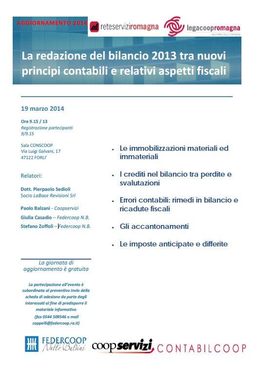 La redazione del bilancio 2013 tra nuovi principi contabili e relativi aspetti fiscali