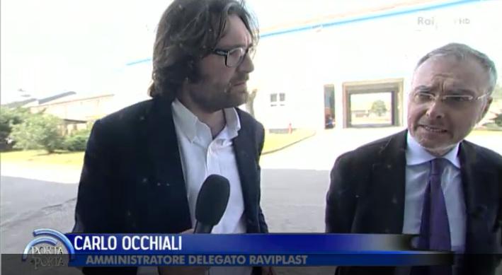Raviplast intervistata da Bruno Vespa a Porta a Porta su Rai 1