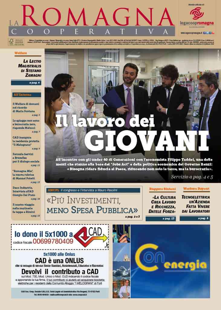 Il numero 3/2014 della Romagna Cooperativa è online