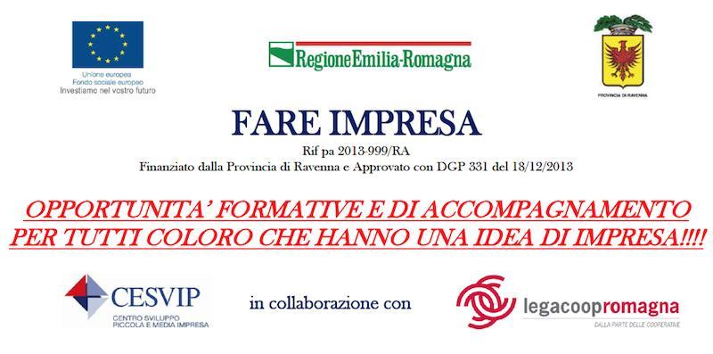 Hai un'idea di impresa? Realizzala con Cesvip e Legacoop Romagna