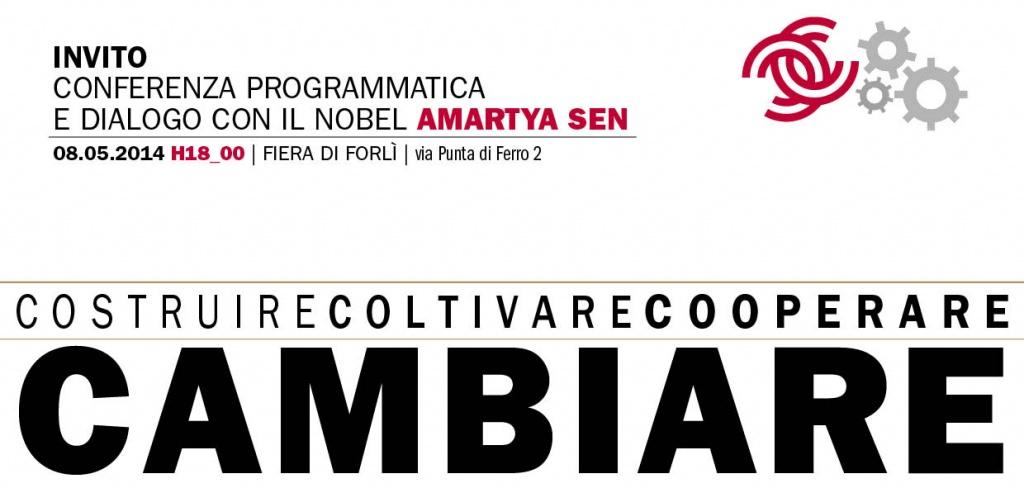 Il Nobel Amartya Sen l'8 maggio alle 18 a Forlì per la conferenza di programma di Legacoop Romagna