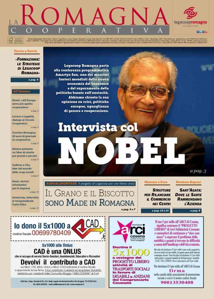 Amartya Sen sul n.4/2014 della Romagna Cooperativa