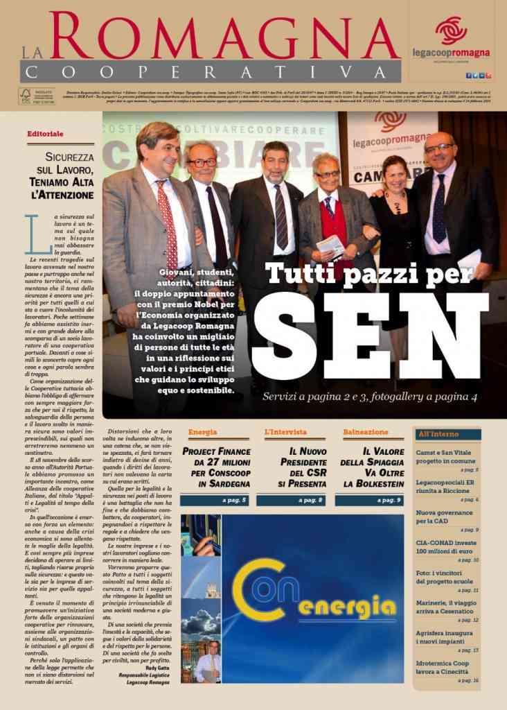 In anteprima il nuovo numero della Romagna Cooperativa (5/2014)