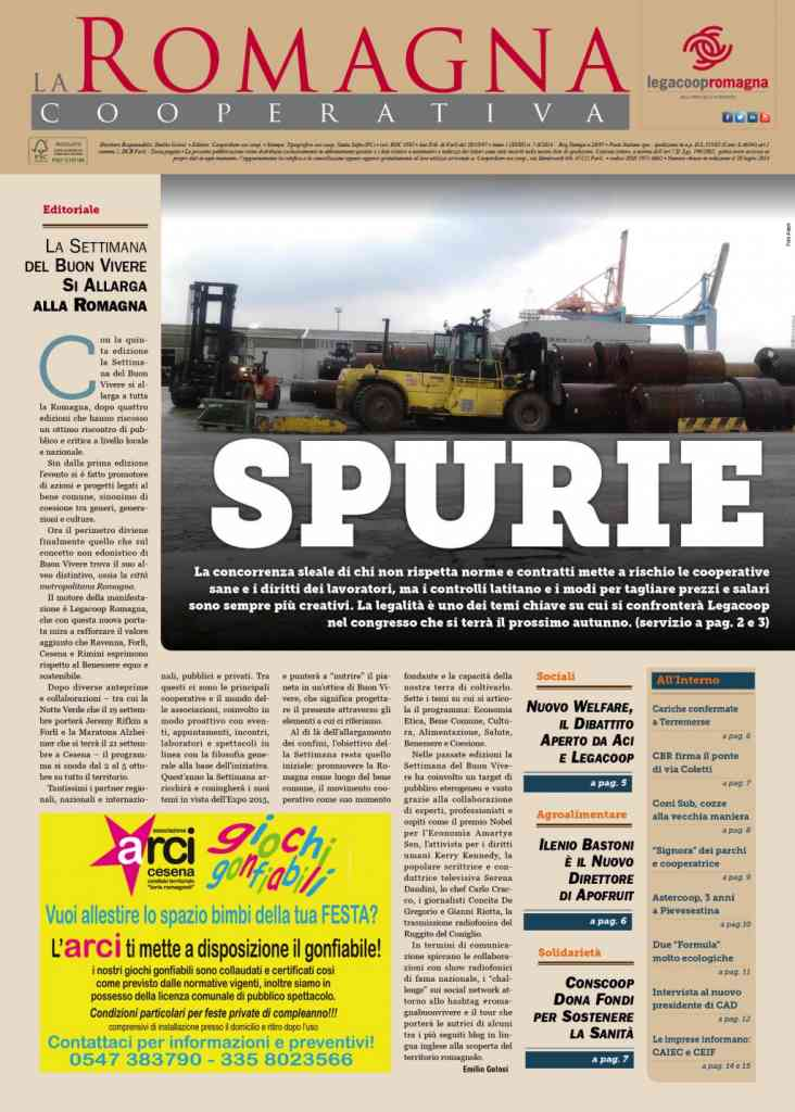 Spurie e concorrenza sleale nel numero di luglio/agosto della Romagna Cooperativa