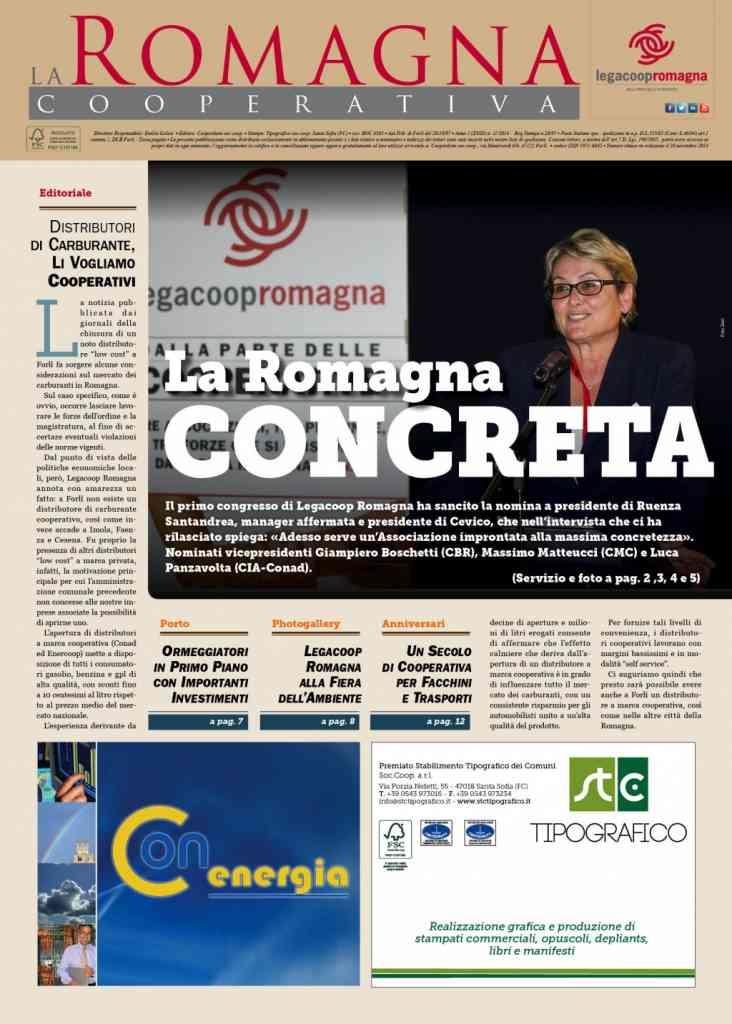 La Romagna Cooperativa 11/2014 – tutto sul primo congresso di Legacoop Romagna