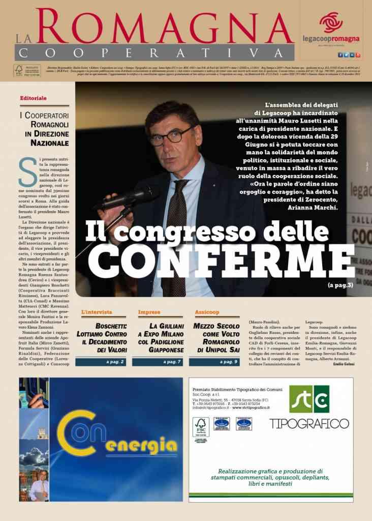 """""""Il congresso delle conferme"""" nel nuovo numero della Romagna Cooperativa"""