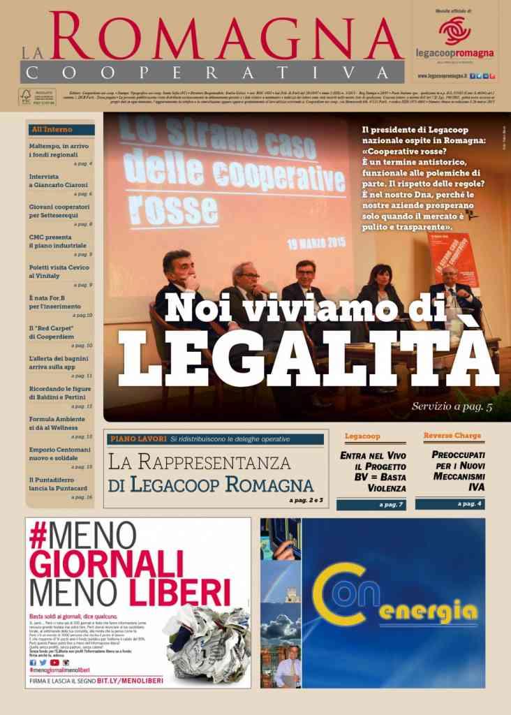 «Noi viviamo di legalità»: il nuovo numero della Romagna Cooperativa