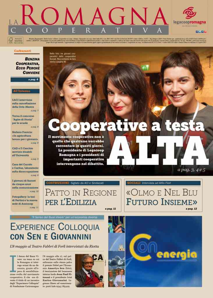 Cooperative a testa alta: il nuovo numero della Romagna Cooperativa