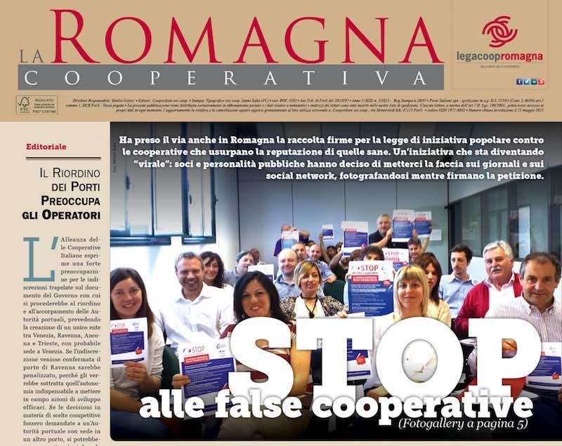 #stopfalsecooperative apre il nuovo numero della Romagna Cooperativa