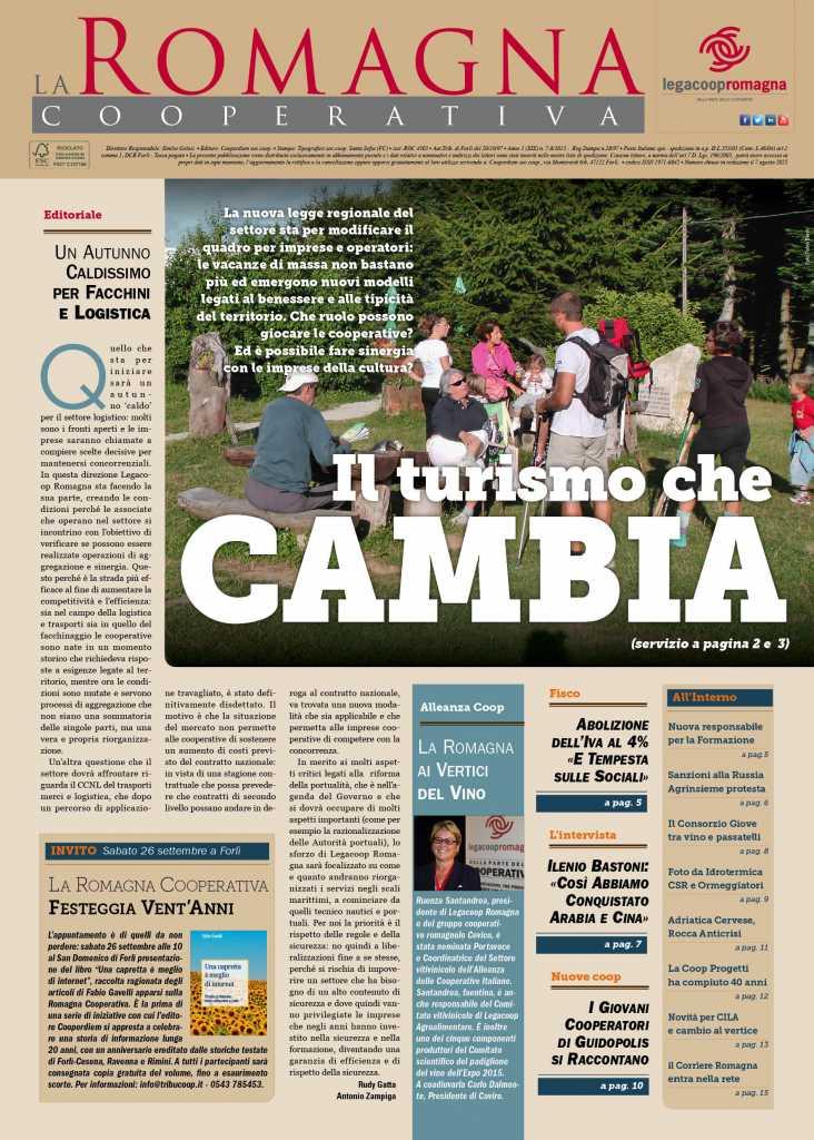 Il turismo che cambia nel nuovo numero della Romagna Cooperativa