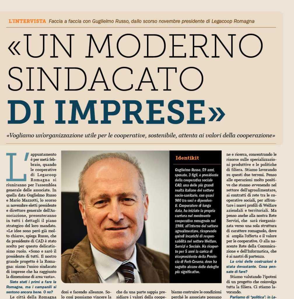 La Romagna Cooperativa intervista il presidente Guglielmo Russo
