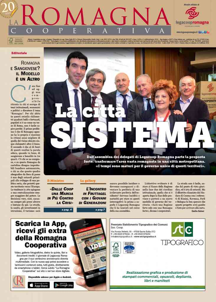 «La città sistema»: il nuovo numero della Romagna Cooperativa [app]