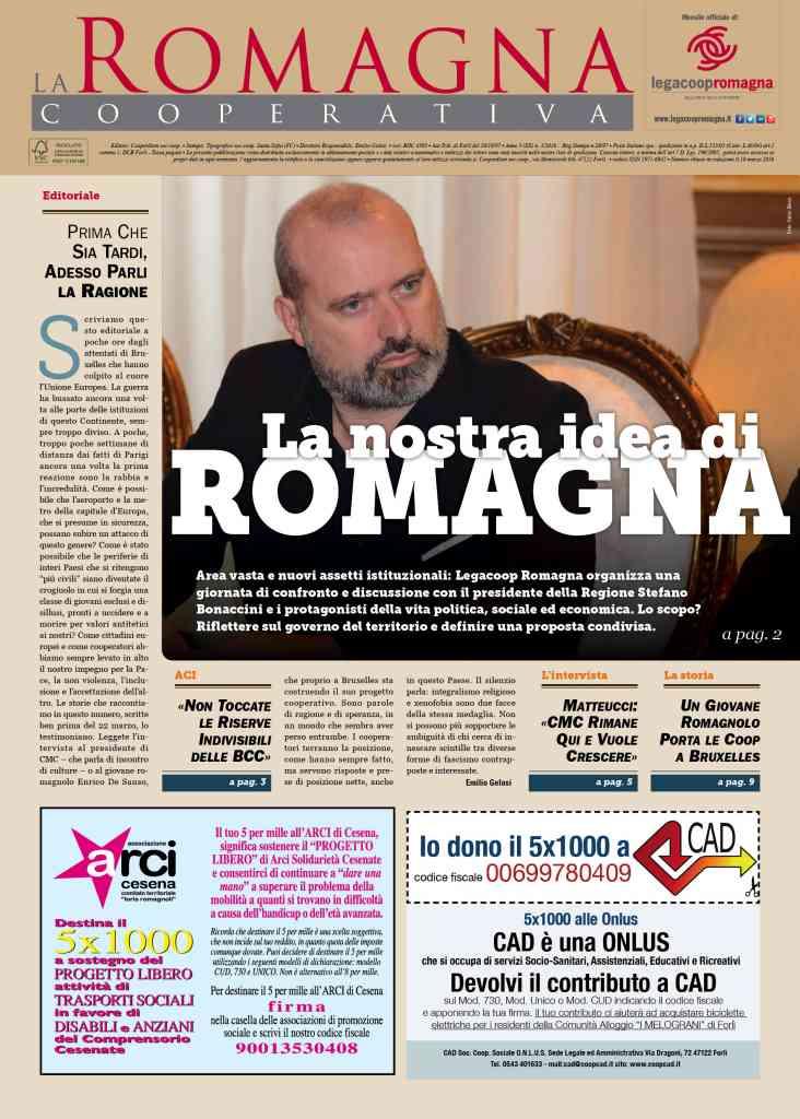 """""""La nostra idea di Romagna"""" nel nuovo numero della Romagna Cooperativa"""