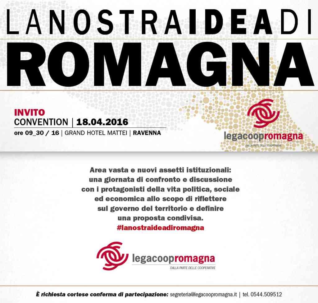 La nostra idea di Romagna: il 18/4 la convention con Bonaccini, Petitti, Corsini e i Sindaci dell'area vasta