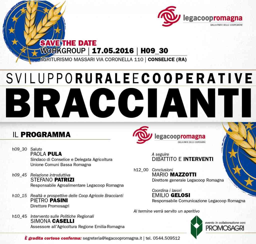 Sviluppo rurale e cooperative braccianti: il 17/5 evento a Conselice con Simona Caselli