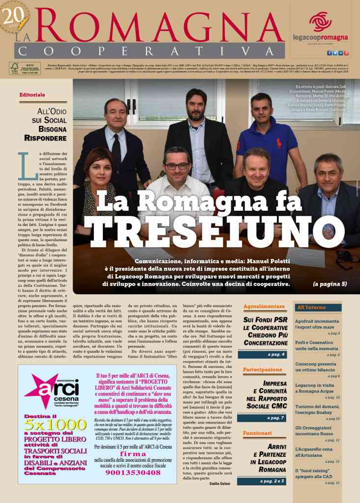 La Romagna fa Treseiuno – il nuovo numero della Romagna Cooperativa è online