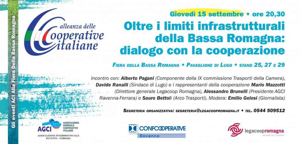 Giovedì 15/9 incontro sulle infrastrutture a Lugo