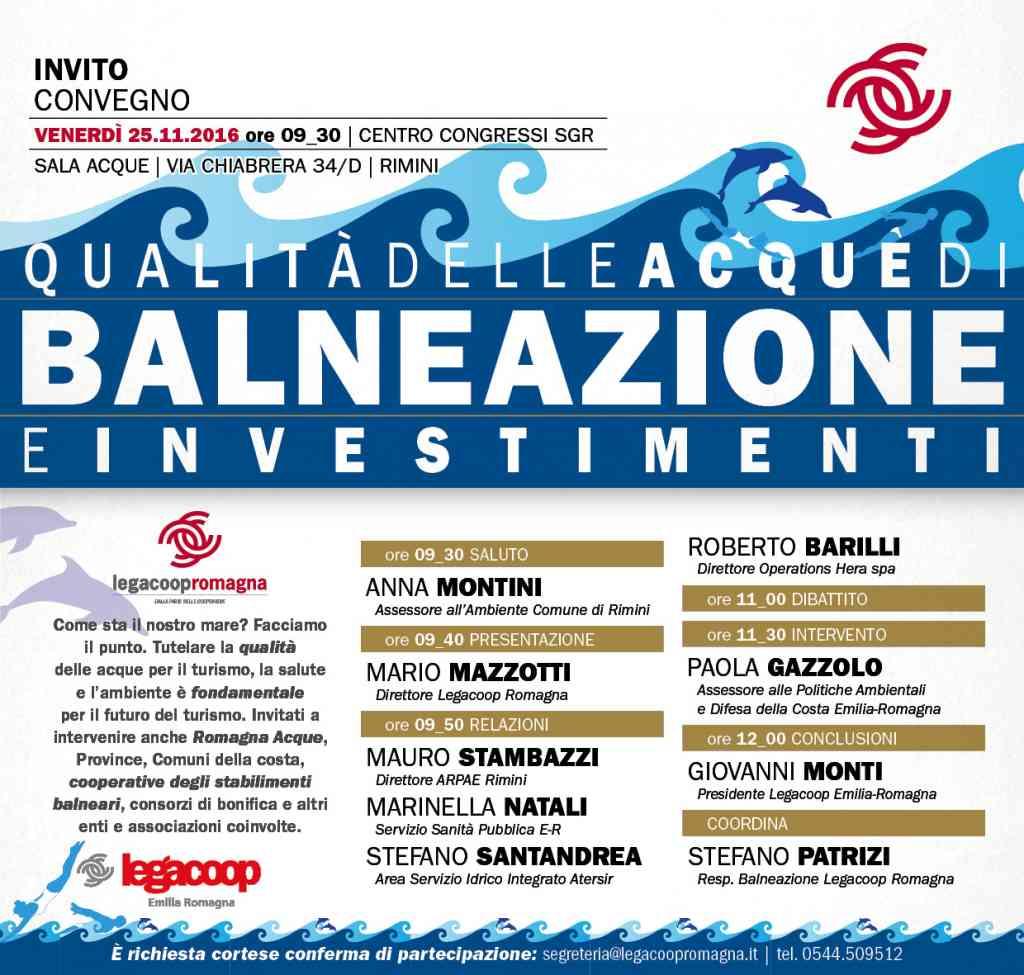 Qualità delle acque di balneazione e investimenti, il 25/11 convegno a Rimini