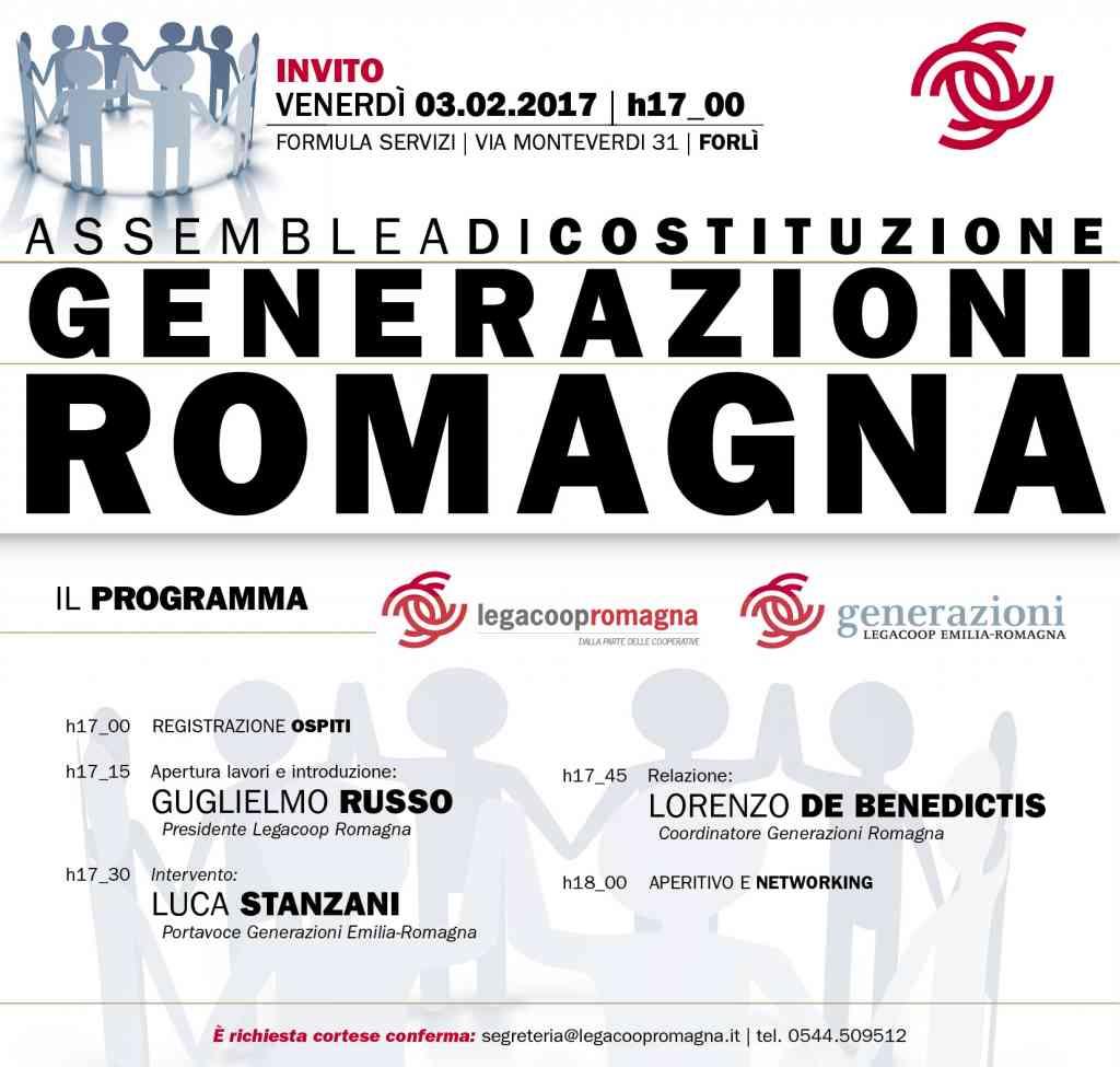 Generazioni Romagna, il 3/2 assemblea di costituzione a Forlì