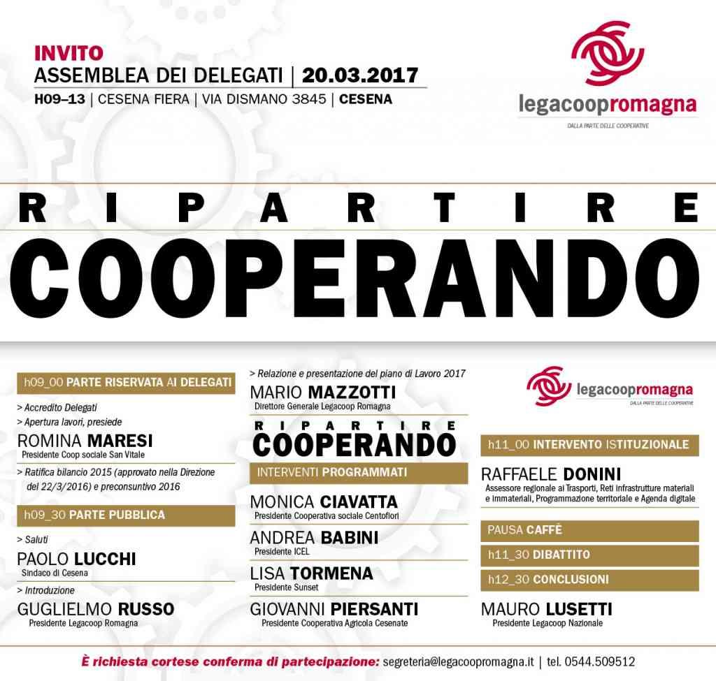 Ripartire Cooperando – il 20/3 a Cesena l'assemblea di Legacoop Romagna