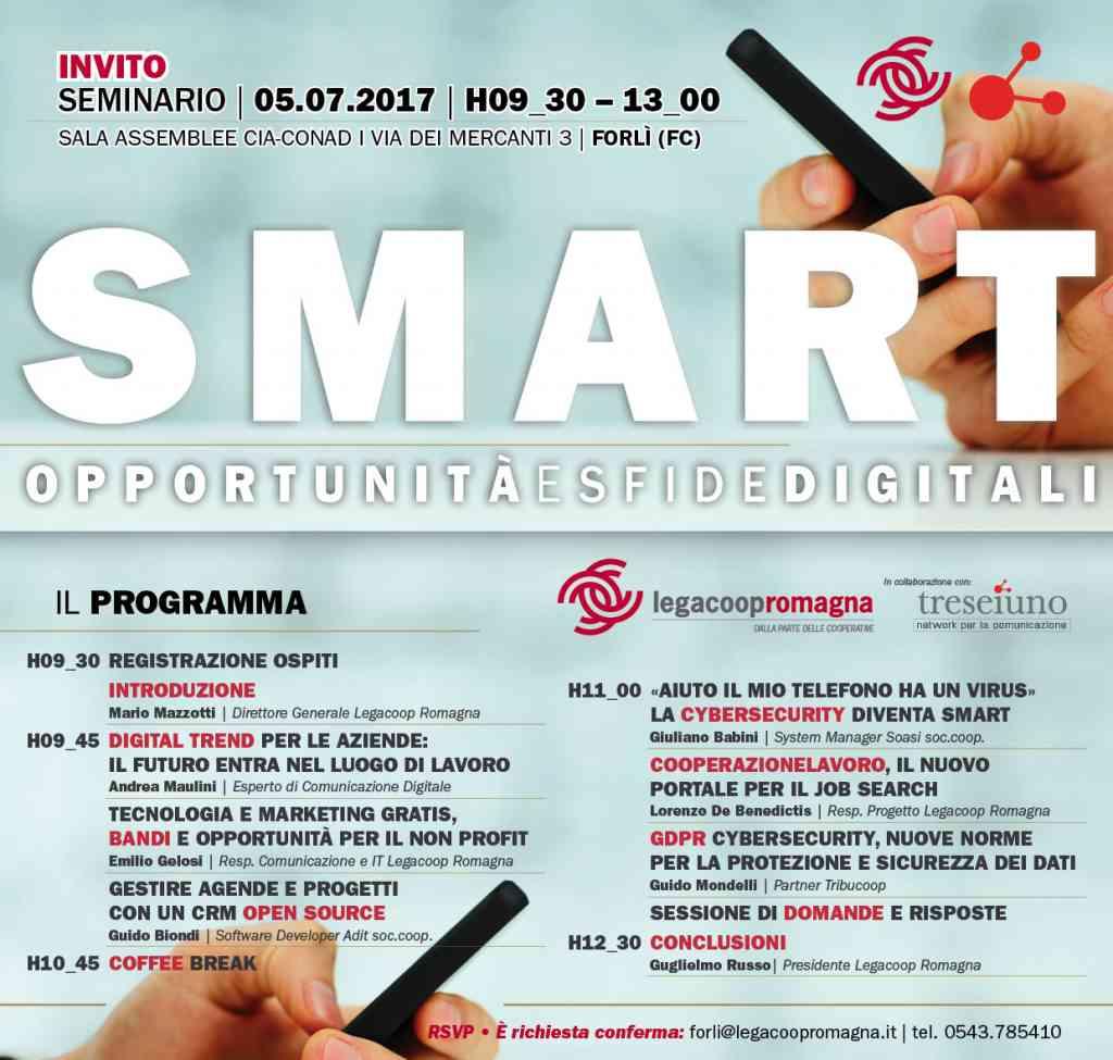 Smart, opportunità e sfide digitali per le cooperative: seminario il 5/7 a Forlì