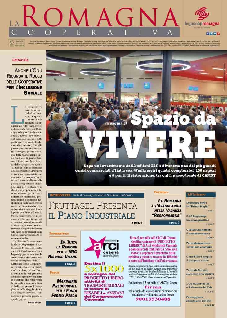 «Spazio da vivere», il nuovo numero della Romagna Cooperativa è online