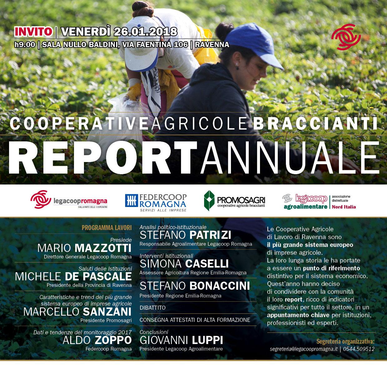 Bonaccini e Caselli al report annuale Cooperative Agricole Braccianti
