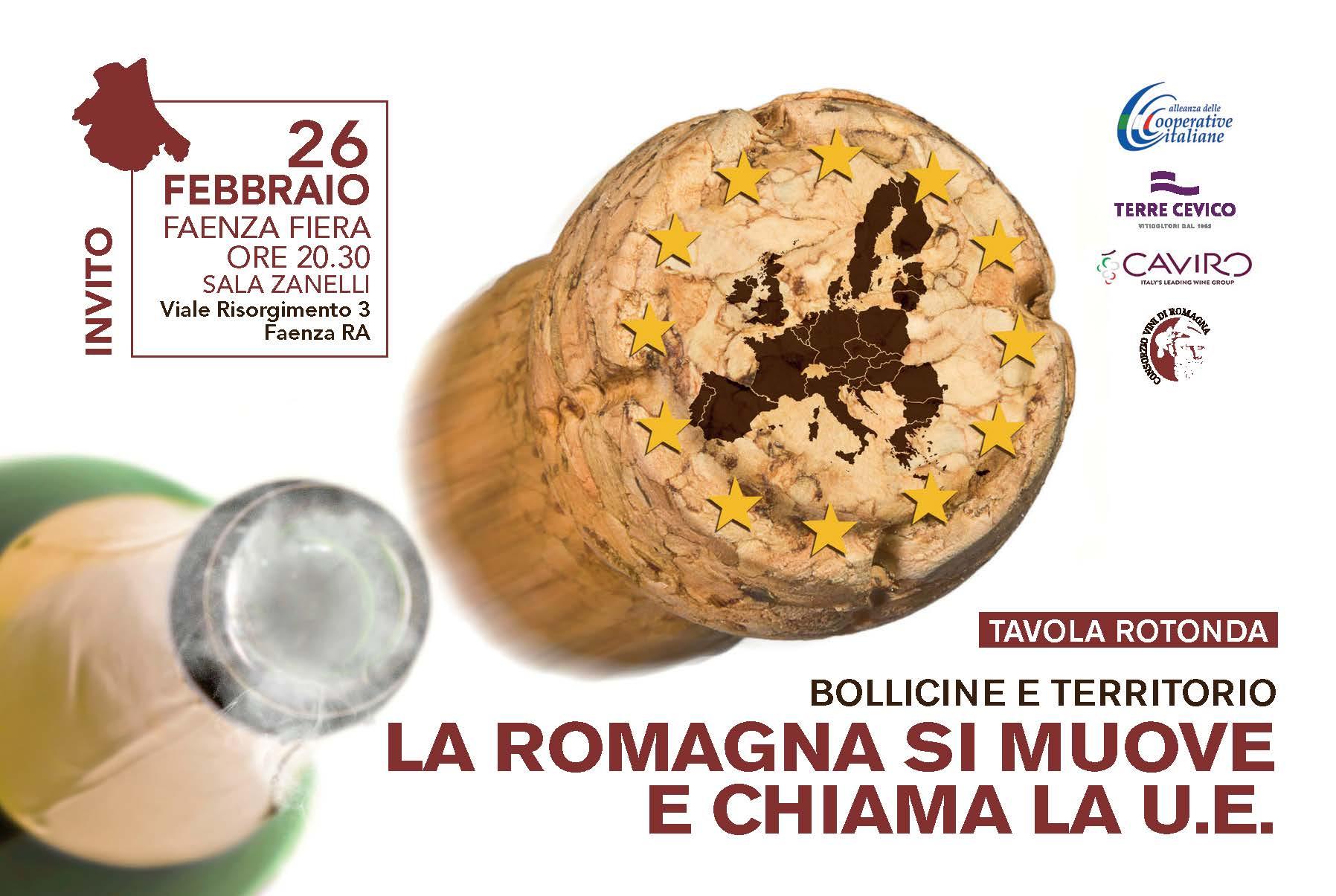 Europa, bollicine e territorio: il 26 febbraio tavola rotonda ACI a Faenza