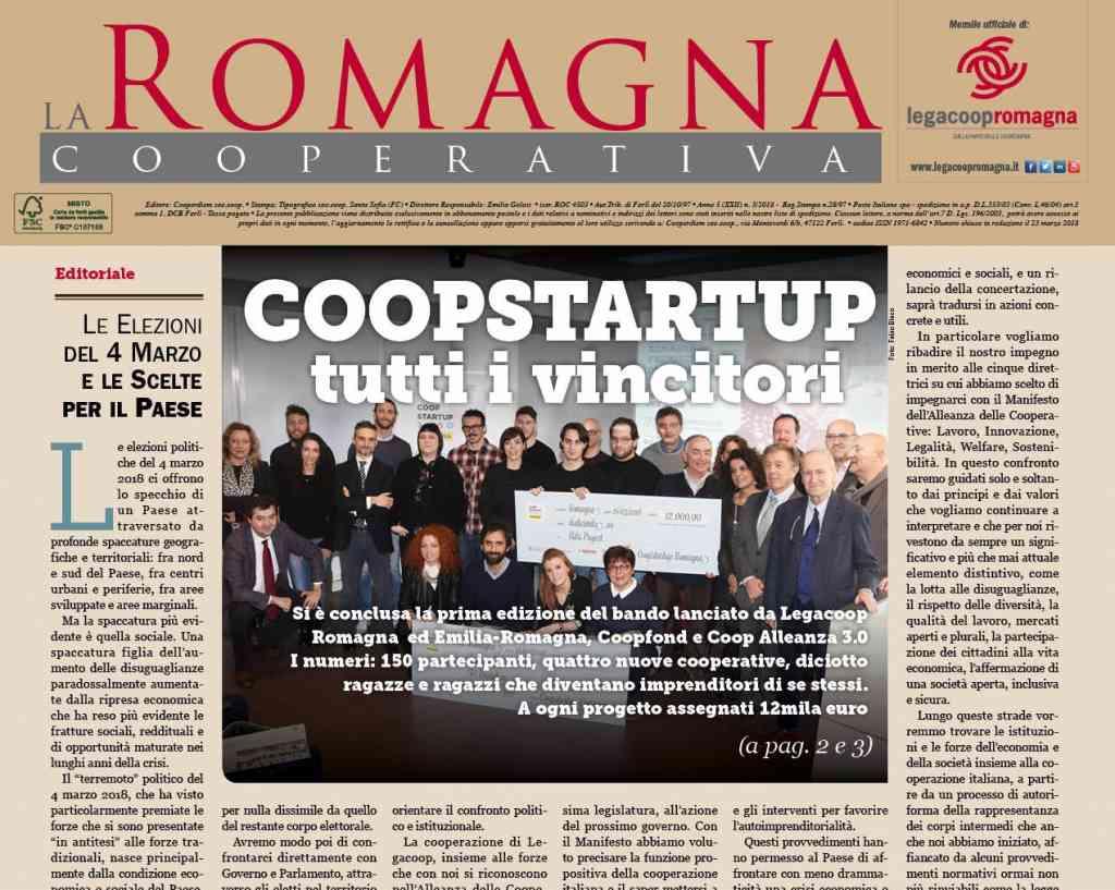 Coopstartup, tutti i i vincitori – il nuovo numero della Romagna Cooperativa [pdf] [app]