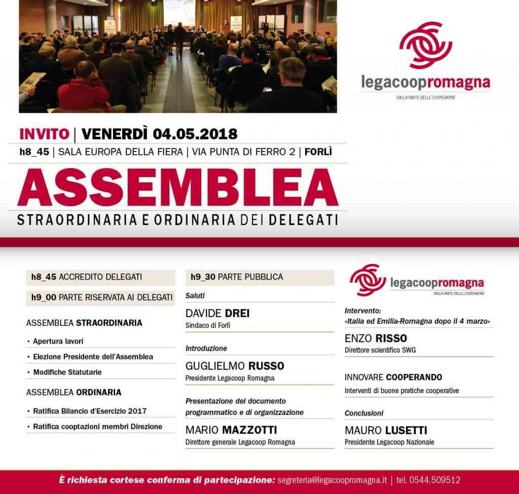 Venerdì 4 maggio l'Assemblea di Legacoop Romagna