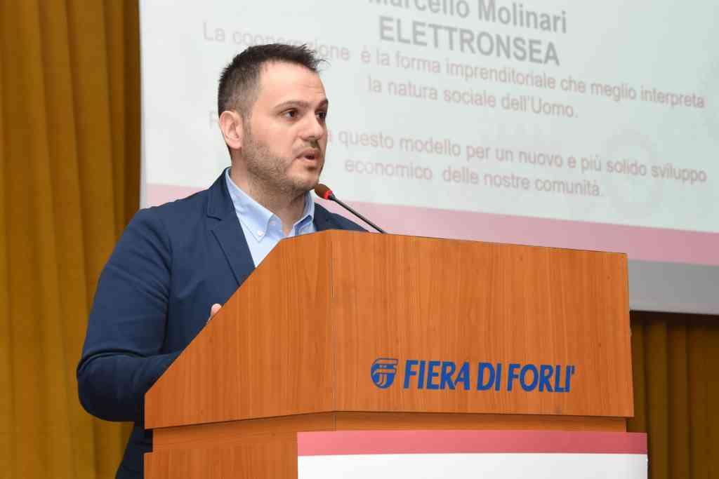 L'intervento di Marcello Molinari di Elettronsea all'assemblea di Legacoop Romagna
