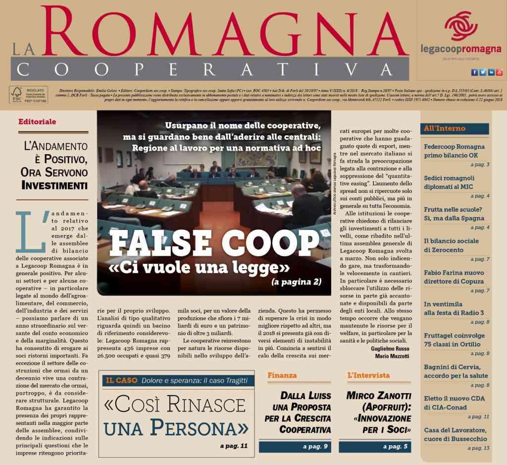 False coop, ci vuole una legge – il nuovo numero della Romagna Cooperativa (6/2018)