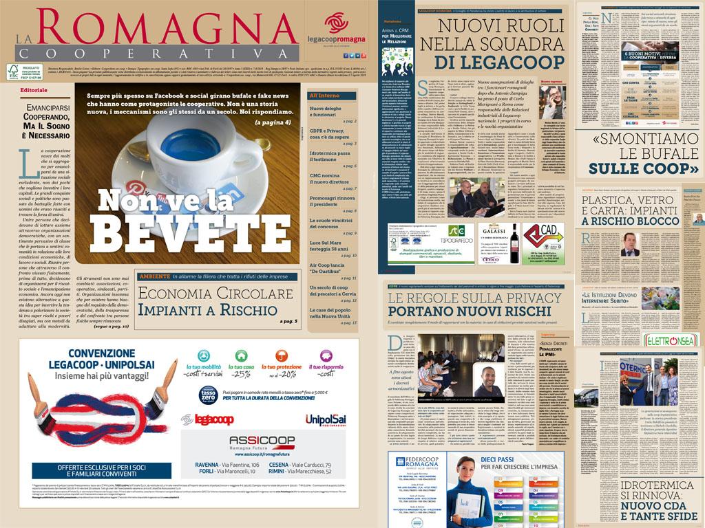 Le fake news sulle cooperative – La Romagna Cooperativa 7/8-2018 [pdf]