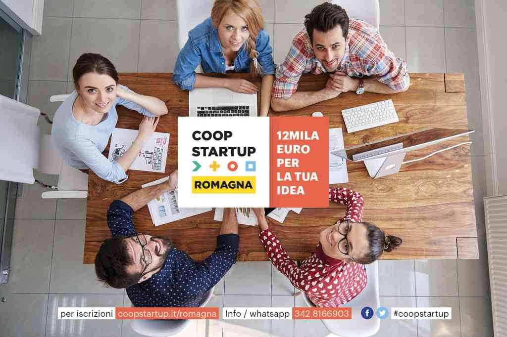 Al via la seconda edizione di Coopstartup Romagna, 12mila euro per la tua idea