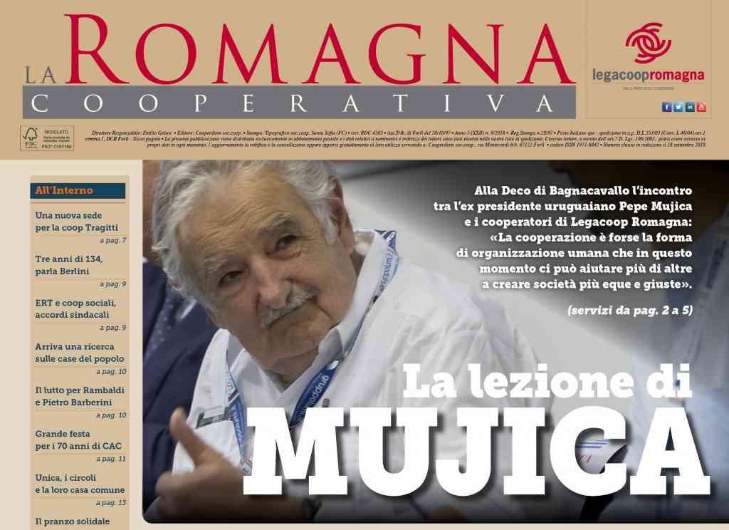 La lezione di Mujica – il nuovo numero della Romagna Cooperativa [9/2018]