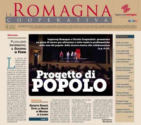 Progetto di Popolo – il nuovo numero della Romagna Cooperativa [10/2018]