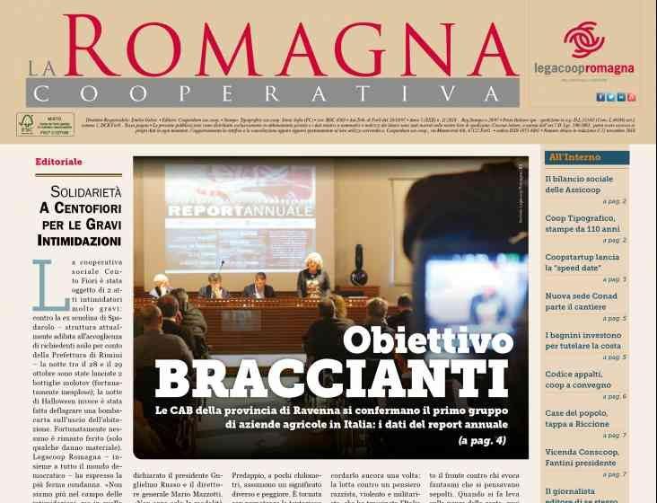 Obiettivo braccianti – il nuovo numero della Romagna Cooperativa [11/2018]